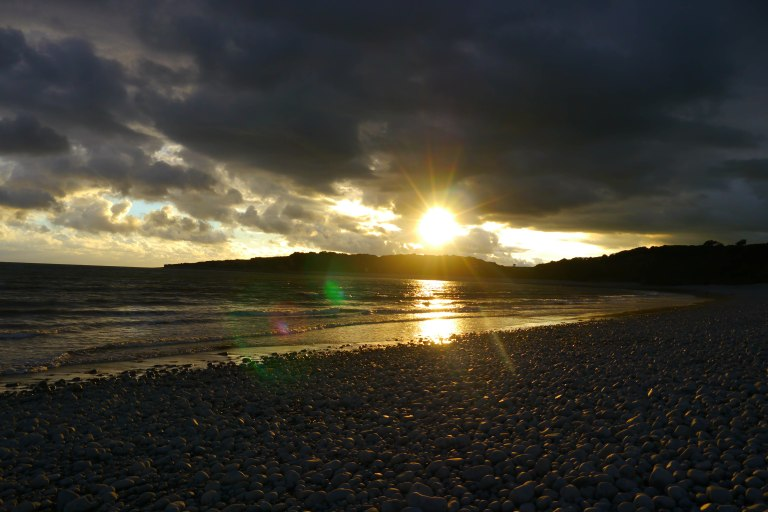 Sunset at the Knap, Barry